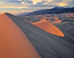 The Sangre de Cristo Mountains from Star Dune, Great Sand Dunes National Park, near Alamosa, Colorado