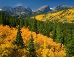 Taylor Peak, Hallett Peak and Flattop Mountain, Rocky Mountain National Park, near Estes Park, Colorado