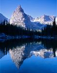 Lone Eagle Peak reflected in Mirror Lake, Indian Peaks Wilderness, Colorado