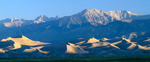 Great Sand Dunes and the Sangre de Cristos Range, Great Sand Dunes National Park, near Alamosa, Colorado