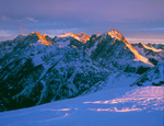 The Needle Mountains from Peak 12,458 at sunset, Weminuche Wilderness, near Silverton, Colorado