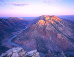 Split Mountain Canyon from Ruple Point at sunrise, Dinosaur National Monument, Colorado/Utah