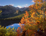 Longs Peak, Glacier Gorge and Bear Lake in Autumn, Rocky Mountain National Park, near Estes Park, Colorado