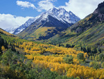 Pyramid Peak from the Maroon Creek valley, Maroon Bells-Snowmass Wilderness, near Aspen, CO