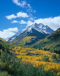 Pyramid Peak and Maroon Creek valley, White River National Forest, near Aspen, Colorado