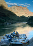 Unloading the boats at 140 Mile Canyon, Grand Canyon National Park, Arizona