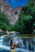 Cora Randall enjoying Havasu Creek, mile 157, Grand Canyon National Park, Arizona