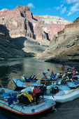 AZRA raft trip about to leave camp at mile 122, Grand Canyon National Park, Arizona