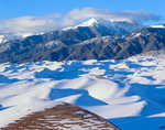 A rare heavy snow blankets the dunes, Great Sand Dunes National Park, CO
