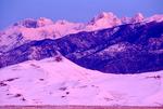 Pre-dawn glow over Sangre de Cristo Mtns. & Great Sand Dunes Natl. Park, CO