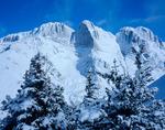 Challenger Point (14,080') & Kit Carson Mtn. (14,165') Sangre de Cristo Mtns., CO