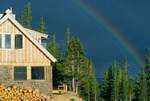 Rainbow over Uncle Bud's Hut, 10th Mountain Division Hut Association, near Leadville, CO