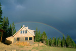 Rainbow over Uncle Bud's Hut, Tenth Mountain Division Hut Association, near Leadville, Colorado