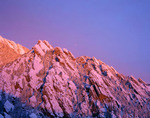 The Flatirons from Bear Mountain at sunrise after a fall snowstorm, Boulder Mountain Parks, Colorado