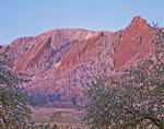 The Flatirons in spring, near Boulder, Colorado