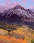 Mt. Sneffels at sunset, San Juan Mountains, Mt. Sneffels Wilderness, Uncompahgre National Forest, Colorado