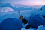 Camp at 11,000 feet, West Buttress, Mt. McKinley, Denali National Park, Alaska