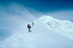 Rob Dubin and Larry Palubicki approaching the summit of Mt. McKinley, Denali National Park, Alaska