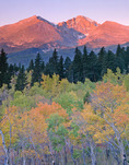 Longs Peak from Twin Sisters in autumn, Rocky Mountain National Park, Colorado
