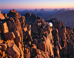 Summit ridge of Windom Peak at sunrise, Weminuche Wilderness, Colorado