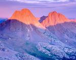 Vestal and Arrow Peaks from summit of Peak Three, Grenadier Range, Weminuche Wilderness, Colorado.