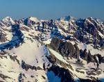 The Maroon Bells, Snowmass Mountain, Capitol Peak, Pyramid Peak from the summit of Castle Peak, Maroon Bells-Snowmass Wilderness, Colorado