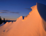 Cornice on Bald Mountain at sunset, Gore Range, Eagles Nest Wilderness, Colorado