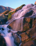 Columbine Falls & Mt. Meeker at sunrise, Rocky Mountain National Park, Colorado
