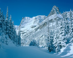 Notchtop Mountain after fresh snow, Rocky Mountain National Park, Colorado