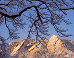 The Flatirons after a fall snowstorm, Boulder Mountain Parks, Boulder, Colorado.