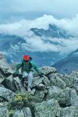 Cora Randall hiking on Flattop Mountain, Rocky Mountain National Park, Colorado
