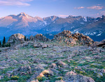 Longs Peak and Glacier Gorge from Timberline Pass, Rocky Mountain National Park, Colorado