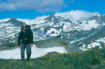 Robert Himber backpacking on the Continental Divide Trail near Stony Pass, Weminuche Wilderness, Colorado