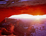 January sunrise at Mesa Arch, Island in the Sky, Canyonlands National Park, Utah