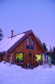 The McNamara Hut at dusk, Tenth Mountain Division hut system, Colorado