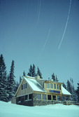 Star trails over Uncle Bud's Hut, Tenth Mountain Division hut system, Colorado