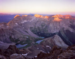 Sunrise from the summit of Mt. Sneffels, Mt. Sneffels Wilderness, Colorado