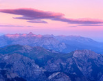 Mt. Sneffels at sunrise from the summit of Wetterhorn Peak, Uncompahgre Wilderness, Uncompahgre National Forest, Colorado