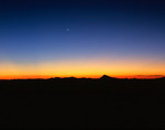 Moonrise from the summit of Mt. Sneffels, Mt. Sneffels Wilderness, Colorado