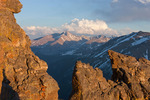 Longs Peak and Glacier Gorge from the Rock Cut at sunset, Trail Ridge Road, Rocky Mountain National Park, Colorado