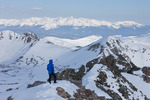 Glenn Randall just below the summit of Quandary Peak, Ten Mile Range, near Breckenridge, Colorado