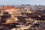 The Chocolate Drops and the Maze from Brimhall Point, Maze District, Canyonlands National Park, Utah