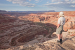 Glenn Randall looks out over the south fork of Horse Canyon from Brimhall Point, Maze District, Canyonlands National Park, Utah