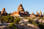 The Doll House at sunset, Maze District, Canyonlands National Park, Utah
