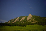 The Flatirons at night from Chautauqua Park, Boulder Mountain Parks, near Boulder, Colorado