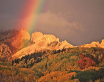 Rainbow over the Dyke from Horse Ranch Park, Kebler Pass area, near Crested Butte, Colorado