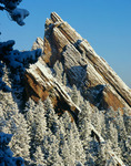 The Third Flatiron from Royal Arch after a late-winter snow, Boulder Mountain Parks, near Boulder, Colorado