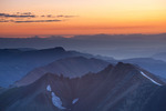 Looking east from the summit of 14,034-foot Redcloud Peak at sunrise, Redcloud Wilderness Study Area, near Lake City, Colorado