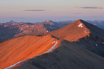 Sunrise from the summit of 14,034-foot Redcloud Peak, Redcloud Peak Wilderness Study Area, near Lake City, Colorado