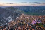 Looking southeast towards Half Peak from the summit of 14,048-foot Handies Peak at sunrise, Handies Peak Wilderness Study Area, Colorado